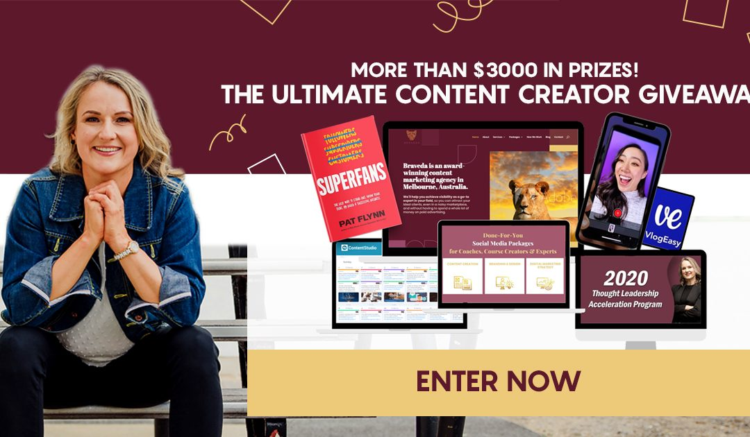 The Ultimate Content CreationGiveawayis HERE!